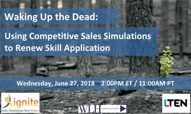 Waking Up the Dead: Using Competitive Sales Simulations to Renew Skill Application