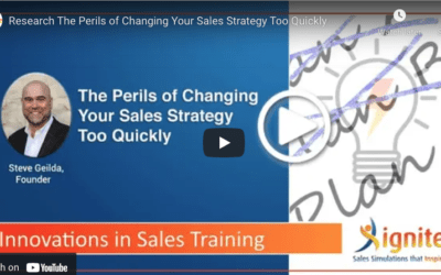 The Perils of Changing your Sales Strategy Too Quickly